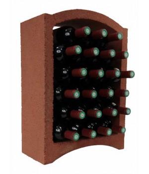 Стеллаж для вина, блок Maxi (красная глина)