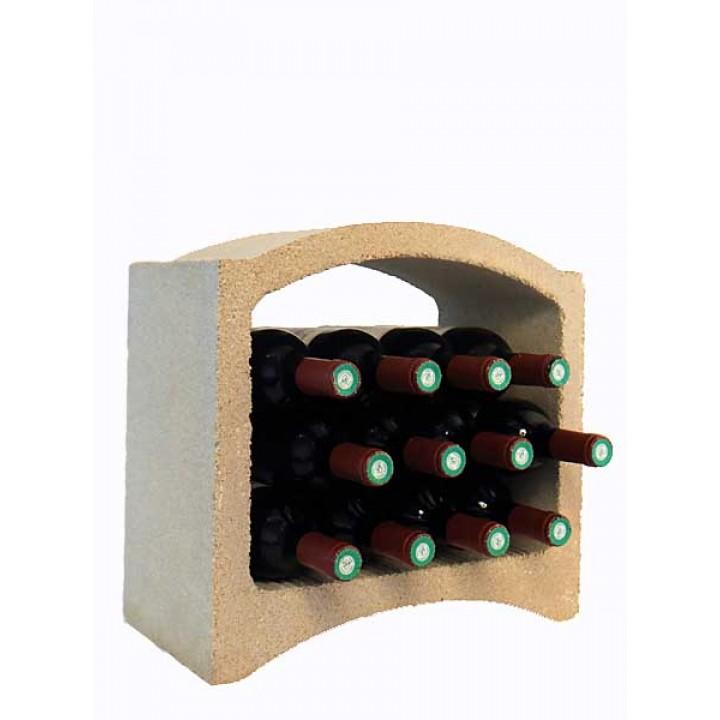 Стеллаж для вина, блок 2/3 (белый известняк)