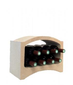 Стеллаж для вина, блок Mini (белый известняк)