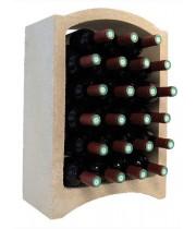 Стеллаж для вина, блок Maxi (белый известняк)