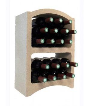 Стеллаж для вина, блок Standard (белый известняк)