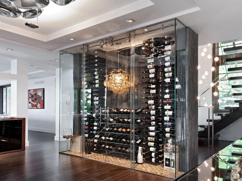Стеллажи для винных бутылок